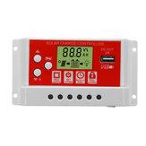 20А 12В / 24В Солнечная Панель Батарея Регулятор зарядки контроллера 3-ступенчатый PWM LCD
