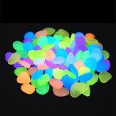100ピース発光ガーデン小石ガーデニング発光グロー石屋外装飾