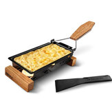 Iron Black Rectangular Cheese Raclette Grill Non-stick Pan BBQ Bakeware Kit