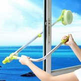 Household Telescopic Window Glass Wiper Cleaning Brush Rod Scrubber Window Cleaner Scraper With Spray Head Cleaning Tools