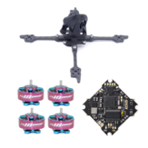 FONSTER Kpro V2 125mm Frame Kit & Geprc GEP-12A-F4 V1.1 F4 Flight Controller 12A ESC & 4 PCS RCINPOWER GTS 1204 5000KV Motor for DIY 3 بوصة Toothpick FPV Racing Drone
