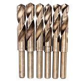 Drillpro HSS-Co Cobalt Reduced Shank Drill Bit M35 13.5-30mm HSS Drill Bit 1/2 Inch Shank for Wood Metal Stainless Steel Drilling