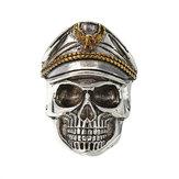 Cool Skull Head Anneau à doigts réglable Vintage Double Eagle Ring for Men