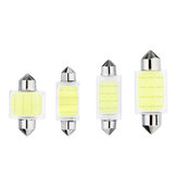 31/36/39/41mm C5W C10W COB LED Bulb Car Festoon Dome Lights Interior Map Reading Lamp DC12V White