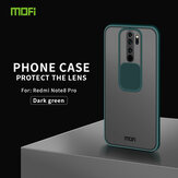 MOFI Anti-Hacker Peeping Slide Lens Cover Shockproof Anti-scratch Translucent Matte Silicone Protective Case for Xiaomi Redmi Note 8 Pro Non-original