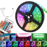 5M DC12V LED Strip Light 5050 RGB Rope Lampe à langer flexible avec télécommande pour TV Chambre Party Home Led Streifen Décorations de Noël Dégagement Lumières de Noël