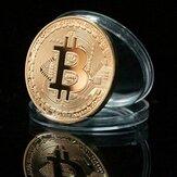 1 stks goud bitcoin model herdenkingsmunten BTC metalen munt decoraties