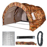 8-10 Person Family Camping Tent Waterproof Tunnel Double Shelter Anti-UV Sunshade Canopy Outdoor Hiking