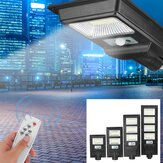 300W-1200W LED Solar Farola Road Garden Impermeable Pared Lámpara con Control remoto
