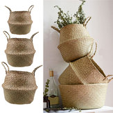 Garden Flower Pot Seagrass Cesta del vientre de almacenamiento Planta Pot plegable Seeding Nursery Decoration Bolsa