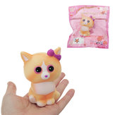 Yellow Cat Squishy 10 * 6CM Slow Rising With Packaging Collection Soft Speelgoed