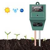 KCASA KC-SMT100 3 in 1 PH Sunlight Hydroponics Analyzer Smart Wood Soil Moisture Meter Sensor Kit