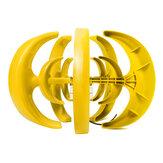 400W 12V / 24Vランタン風力タービン垂直軸自動的に風上黄色風力発電機