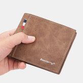 Hommes PU cuir multi-cartes fente décontracté mince pince à billets porte-cartes portefeuille
