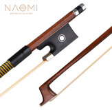 NAOMI Classic Brazilwood 4/4 Violin Bow Light Weight Proper Balance Mongolian Horsehair Bow Hairs Ebnoy for 15/16 Inch Viola