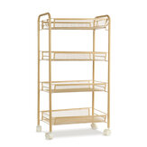 3/4/5 Tier Rolling Trolley Storage Holder Rack Organiser Home  Office Kitchen Bathroom