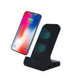 Bakeey 10W Dual Coil 2 USB Port  3 In 1 Wireless Fast Charger Charging Phone Holder For iPhone X XS XR Max  Xiaomi Mi9 Mi8 S9 S9 Note S10 S10 Note