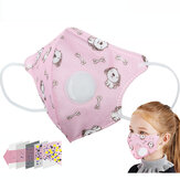 Çocuklar Anti PM2.5 Toz Geçirmez Nefes Yüz Maske Tek Kullanımlık Koruyucu Maske Sevimli Baskılı Dokunmamış Maske