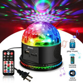 Plug EUA remoto Controle Ativado por Som LED Crystal Magic Ball Light Party KTV