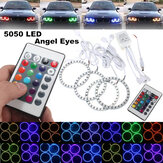 4PCS RGB 90MM Multi-Color 5050 Flash LED SMD 12V Angel Eyes and Remote Control