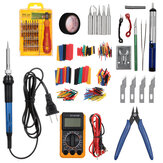 379Pcs/Set 60W Electric Soldering Tool Kit 110V Welding Desoldering Pump Set