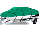 210D 11-22FT Heavy Duty barco Cubierta a prueba de polvo Impermeable Trailerable pesca Ski Bass V-Hull Runabouts Green