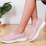 Women Mesh Closed Toe Lazy Slip On Casual Walking Shoes