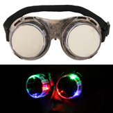 LED Flashing Windproof Glasses Light Up Glowing Eyewear Cool Adults Kids Party Goggles