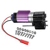 Upgraded Metal Transfer Gear Box with 370 Motor For WPL 1/16 4WD 6WD JJRC Q60 Q61 Black