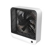 Ventilateur de bureau portable rechargeable USB 2 vitesses Ventilateur silencieux à fort débit d'air pour le bureau à domicile