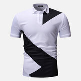 Mænd Regular Color Block Muscle Fit Golf Shirt