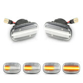 Dynamic LED Side Marker Light Repeater Indicator Lamp Turn Signal Pair For Toyota