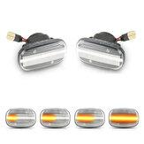 Динамический LED Повторитель боковых габаритных огней Лампа Пара указателей поворота для Toyota