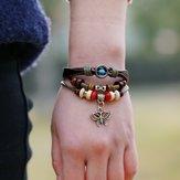 Vintage Butterfly-Armband mit mehreren Schichten