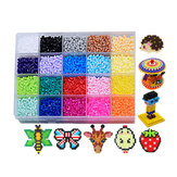 1 Set 2.6MM 20 Color Spelling Peas Template Set 3D DIY Puzzle Educación Juguetes para niños Regalo