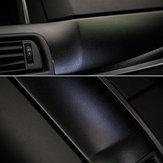 30 centimetri × 150 centimetri in pelle nera Texture adesivi per auto Vinile Wrap Car Decal Film interno