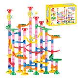 133ピースDIYボールトラックビルディングパイプブロックのおもちゃ建設レース実行パイプラインブロック教育玩具ゲーム