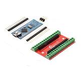 Carte d'extension NANO IO Shield + Contrôleur ATmega328P Nano V3 Geekcreit pour Arduino - produits compatibles avec les cartes Arduino officielles