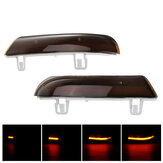 Pair Dynamic LED Turn Signal Light Mirror Indicator Lights Amber for VW Golf 5 Jetta MK5 Passat B6