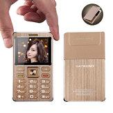 SATRENDA101.77Zoll480mAhBluetooth GSM Metalll-Rumpf Ultra dünne Mini-Karte Telefon