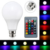 B22 10W Dimmable RGBカラーLEDライトランプバルブリモートコントロールAC85-265Vを変更する