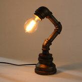 E27 Винтаж Промышленный металлический стол для труб из нержавеющей стали Лампа Свет AC110-240V