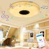36W 60W Σύγχρονη LED Μουσική Φωτιστικό οροφής Bluetooth Ηχείο πολλαπλών χρωμάτων Λάμπα AC220V