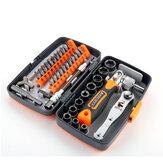 38個の多機能ドライバーセットコンビネーションラチェットプラスドライバー家庭用修理スクリュードライバー
