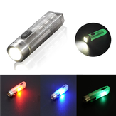 JETBEAM MINI-ONE SE 500lm GITD EDC LED Keychain Flashlight with UV/Green/Red RGB Sidelight Type-C Rechargeable Mini Pocket Light 365nm UV Flashlight Self-luminous Camping Light