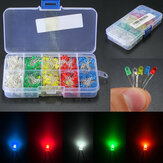 500Pcs 3mm LED Licht Weiß Gelb Rot Blau Grün DIY Sortiment Dioden Kit