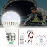 DC12V E27 3W SMD5730 Portable 6 LED Ampoule avec Interrupteur + Ligne Clip pour la réparation de camping car