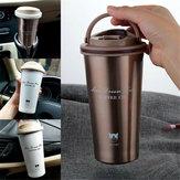 Tazza di caffè portatile da viaggio con isolamento termico portatile in acciaio inossidabile da 500 ml