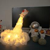 3D Space Rocket LED Night Light Wall Дети Детская Спальня Стол Стол