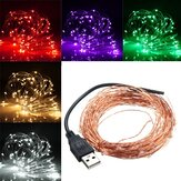 10M 100 LED USB Rame Wire LED String Fairy Light per decorazioni natalizie
